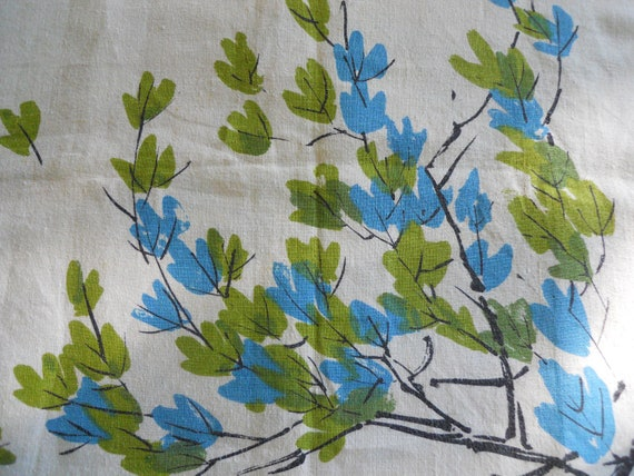 VERA  tablecloth turquoise green square  (New lower price)