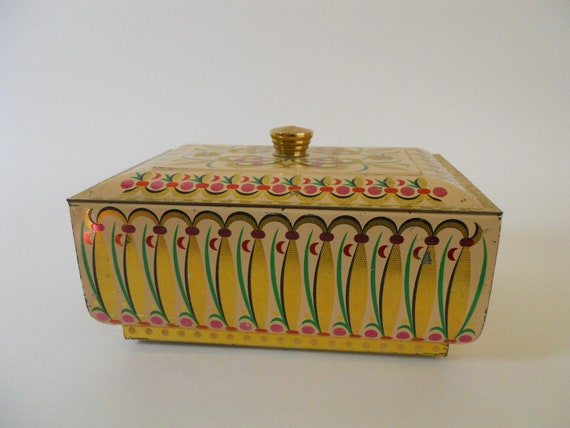 Vintage tin gold candy biscuit  Germany