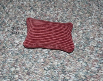 """Small Red Decorative Pillow - 3.5""""x5"""" Doll Sized"""