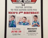 Top Gun Aviator Invitations