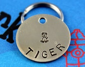 Small Pet Tag - Personalized Small Dog Tag - Metal Dog ID Tag - Nu Gold aka Red Brass - Other Metals Available