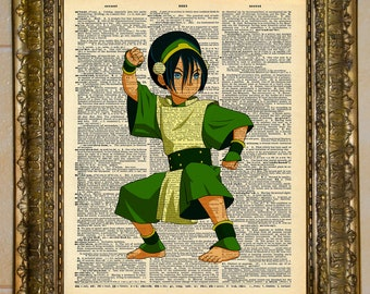 Avatar: The Last Airbender Toph Dictionary Art