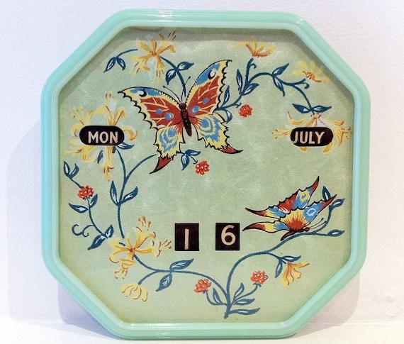 Vintage Perpetual Calendar Butterfly