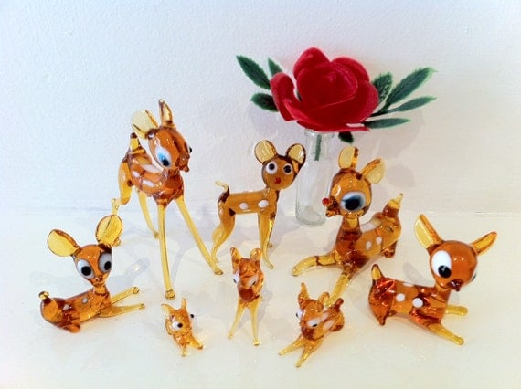 Vintage Kitsch Deer Family - Murano Glass
