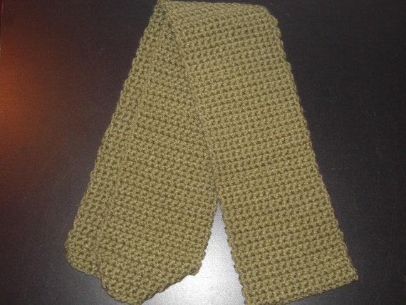 Sage Green crochet scarf