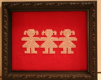 Cross Stitched Sisters Small Picture.