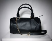 PIRATE - Duffel Leather Bag in Pirate Black