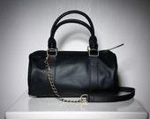 PIRATE - Duffel Leather Bag in Pirate Black