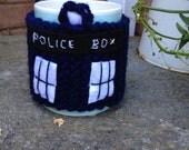 Doctor Who TARDIS inspired mug cosy