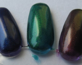Dragon Scales Phoenix Feathers Unicorn Tears Duochrome Color Shifting Mythological Nail Lacquer Trio Indie 15mL Starlight Polish
