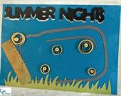 Summer Nights Friendship Card w/Quilled Embellishments
