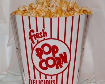 50 LARGE POPCORN Buckets  Centerpiece for Party Gatherings, Family Movie Night, Game Day , FootBall