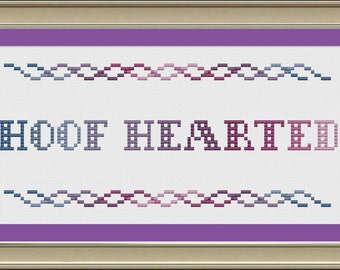 Hoof hearted: funny cross-stitch pattern