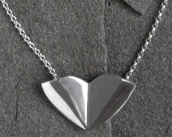 Sterling Silver Heart Pendant, The Reflective Heart
