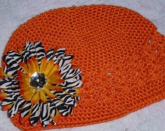 Crochet Zebra Hat For Toddlers