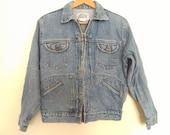80s vintage women medium denim Jean eighties jacket