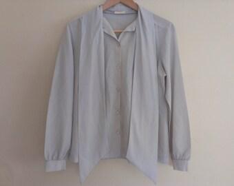 80s eighties secretary blouse