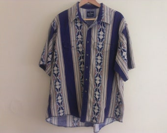 80s men shirt western extra extra large