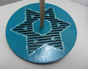 Star of David wooden dreidel (spinning top for Hannuka)