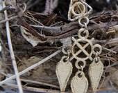 Geometric Gold Necklace - Vintage Repurposed