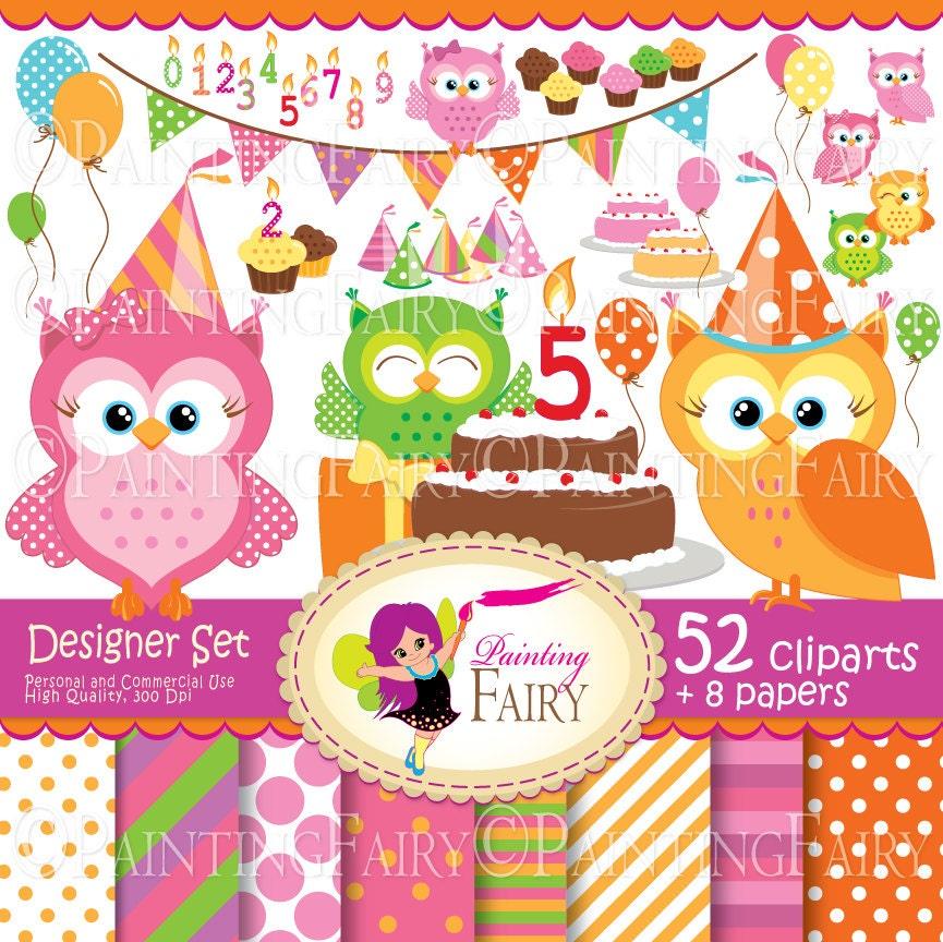 Popular items for cute owl clip art on Etsy