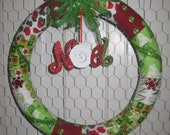 Noel Christmas Wreath