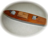 Reserved for Ross....Vintage Boat Handmade Wooden Boat Nautical Antique Painted Boat Antique Toy