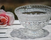 Anchor Hocking Wexford Pressed Glass Compote Dish - 40's