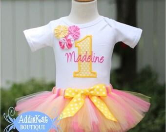 PERSONALIZED Pink Lemonade Birthday Tutu Outfit