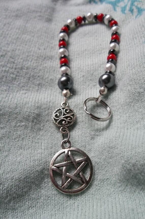 Triple Goddess Pentacle Prayer Beads