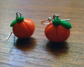 Halloween Round Pumpkin Earrings