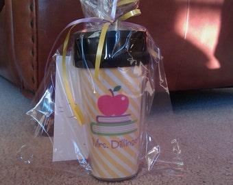Personalized Travel Mug - Teacher travel mug - teacher coffee mug teacher gift travel mug - personalized coffee mug
