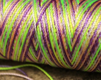 neon greens, yellows, lilac: Unwaxed nylon cord , 10 meters for macramé, Jewelry making, etc.