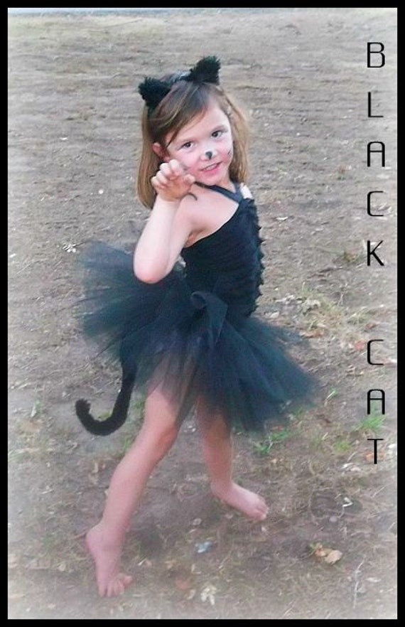 Black Cat Costume / Kitty Cat Costume / Black Tutu Dress
