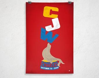 24x36 - Custom Retro Circus Seal Poster - Printable Digital File