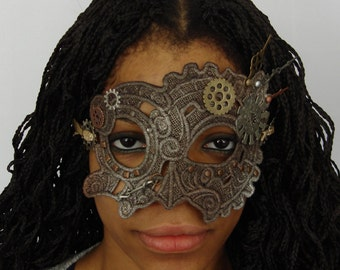 Steampunk Mask...Perfect for any Steam Punk Occasion. No Two Alike
