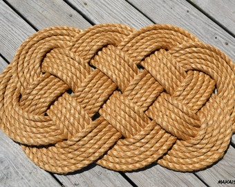 """Nautical Rope Doormat  - Welcome Mat  // Large (19"""" x 32"""" approx.)"""