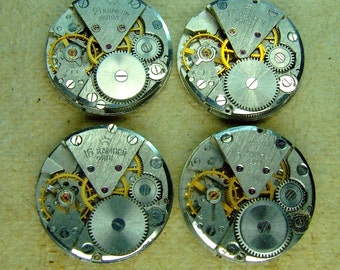 Vintage watch movements - set of 4 - c32
