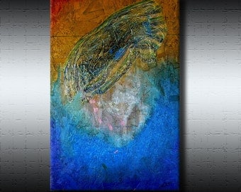 Art For Charity - Abstract Contemporary Modern Art Paintings - Up and Away