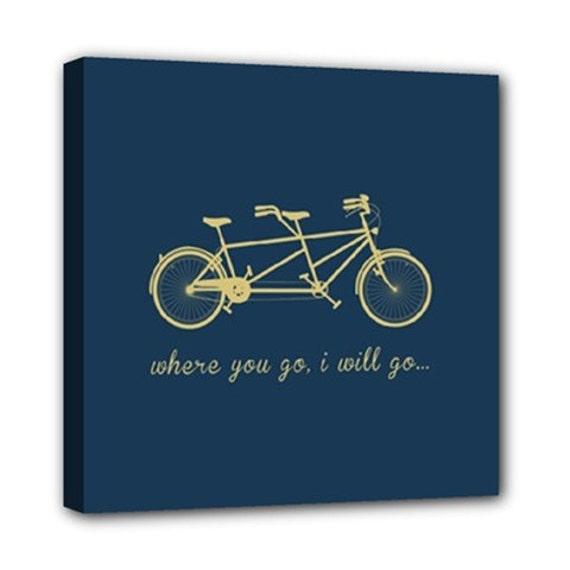 CANVAS // Tandem Bike // Where You Go I Go  //  Wall Decor, Home Decor, Gift, Anniversary, Wedding, Marriage, Family, Bike Art, Art Print