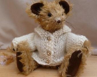 "Meece Amis Artist Mouse by Tabbyclouds  ""Sparklemouse"" (Collector Bear) OOAK Mohair"