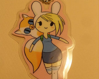 Fionna and Cake Keychain