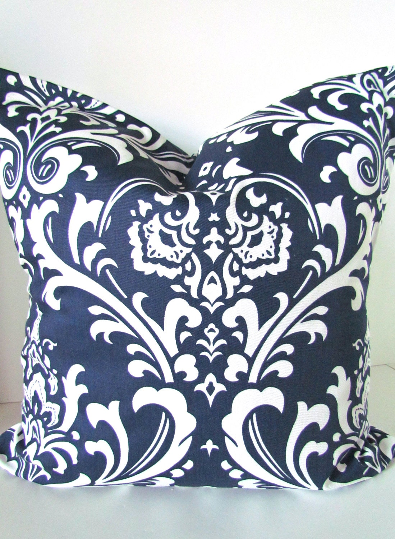 Navy Decorative Throw Pillows : NAVY BLUE PILLOWS Blue Decorative Throw Pillow Covers Navy