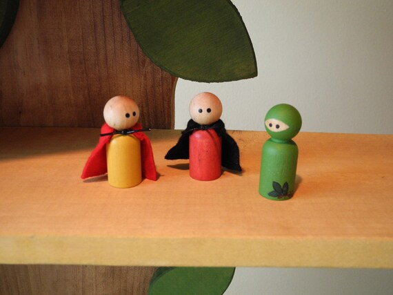 Super Hero PEG PEOPLE from Treehouse Kids