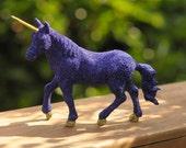 Purple Glitter Bombed Unicorn Figurine