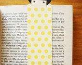 Cute girl bookmark