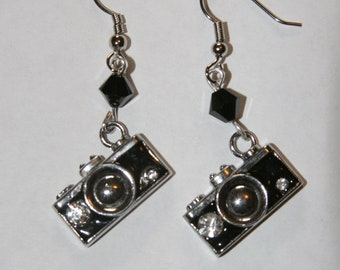 Shutterbug Earrings with Swarovski accents.