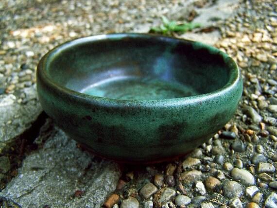 Dark Green Ceramic Bowl