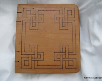 Custom personalized wooden journal or guestbook