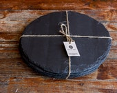 Welsh Slate placemats set of 6 Round